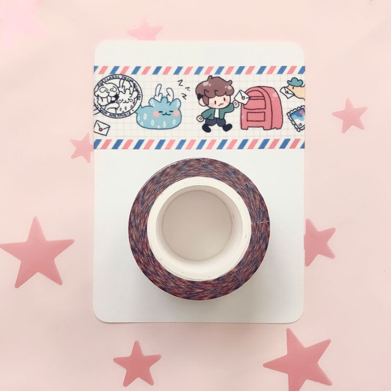 postcards airmail 30mm washi tape