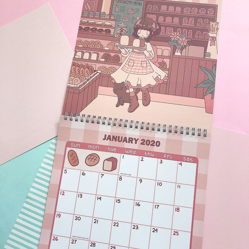kaiami girls 2020 wall calendar