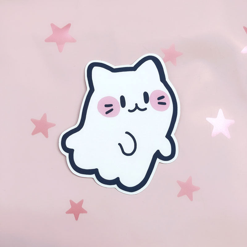 cat ghost vinyl sticker