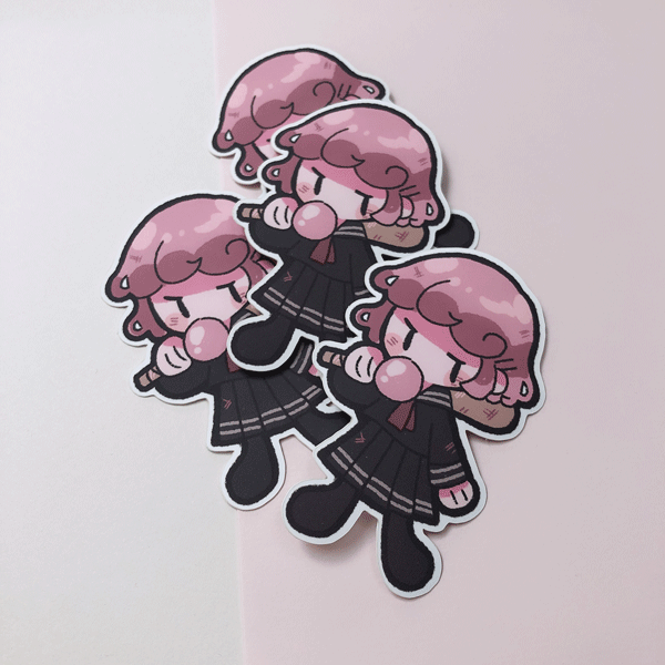 baby bubblegum kaia vinyl sticker