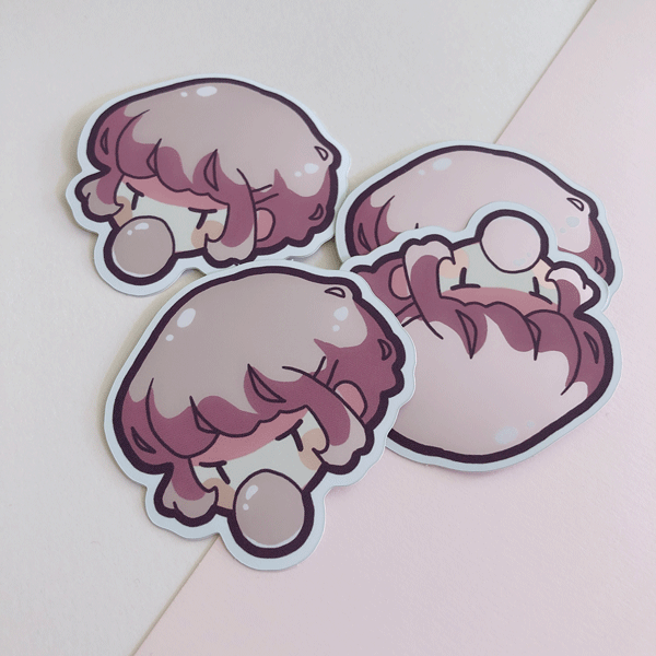 bubblegum kaia metallic vinyl sticker