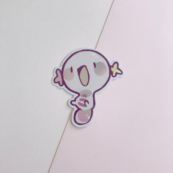 holographic shiny wooper vinyl sticker