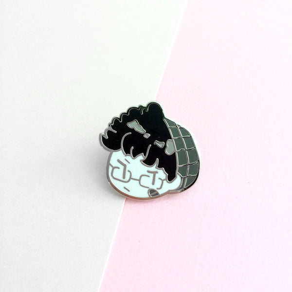 bad boy j enamel pin