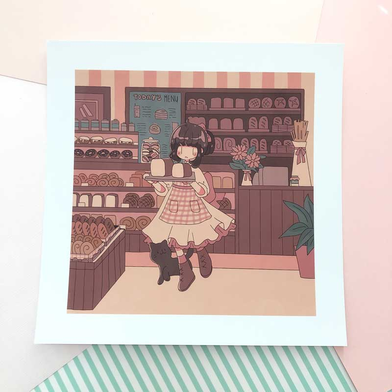 january bakery square print