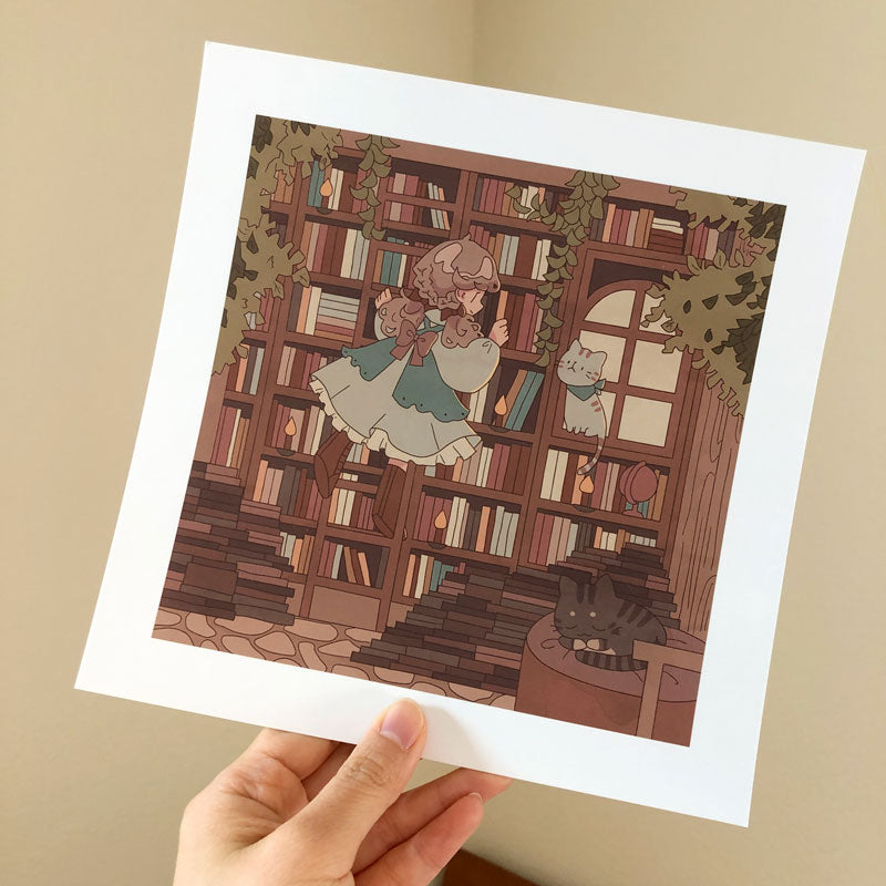 august library square print