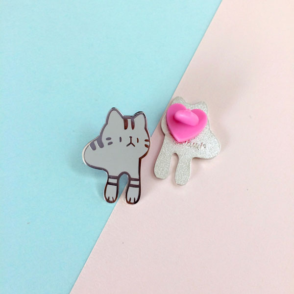 ringo arms cat enamel pin