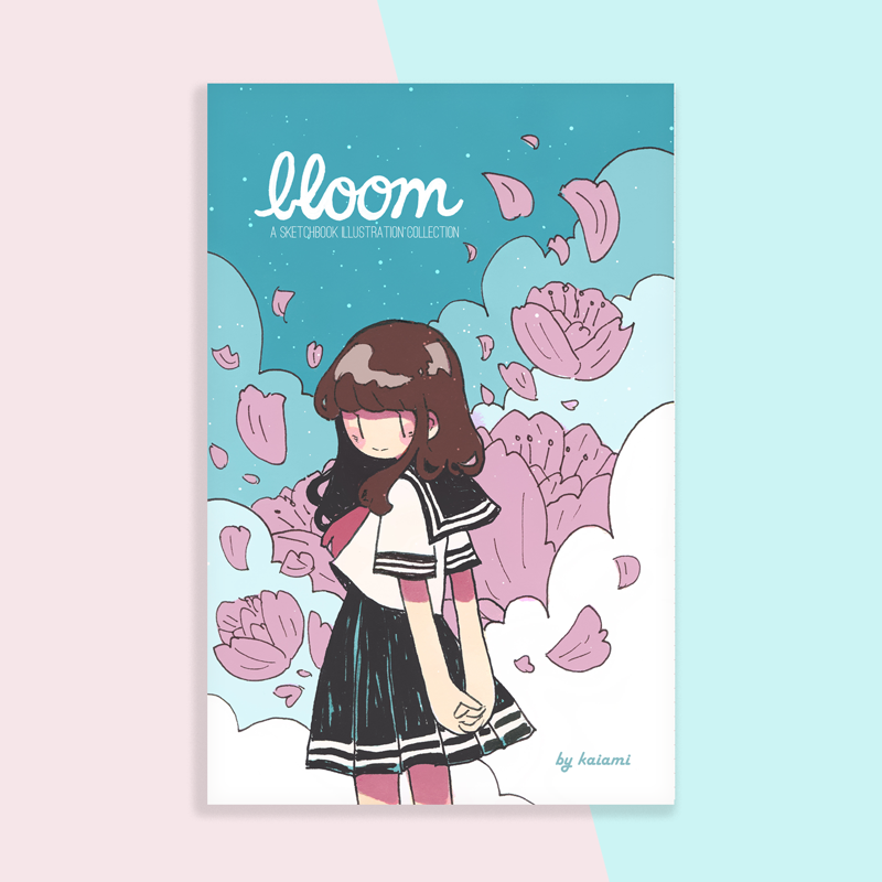 bloom sketchbook zine