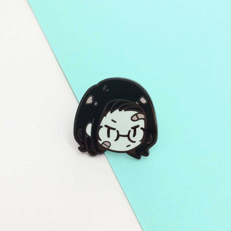 girl gang soap enamel pin