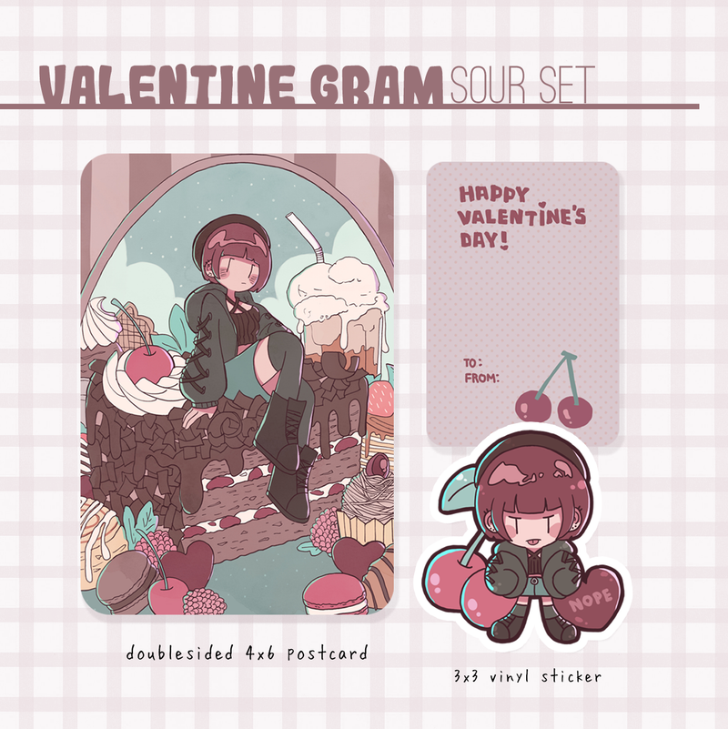 valentine gram mini sour set