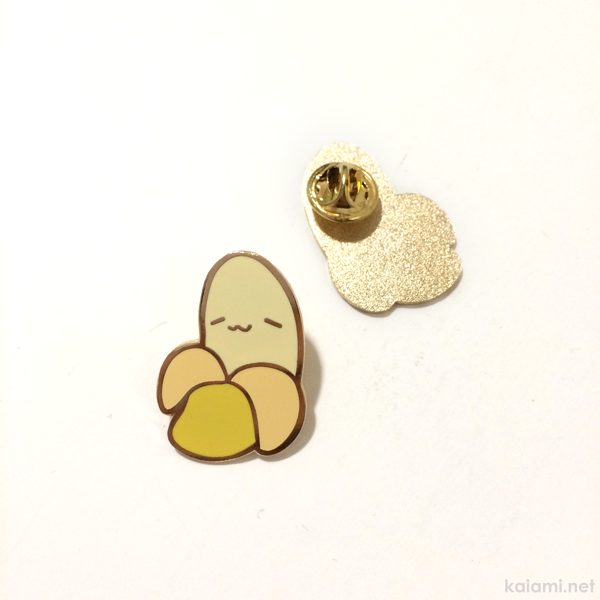 nappy the banana enamel pin