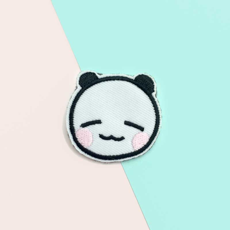connor the panda patch pin