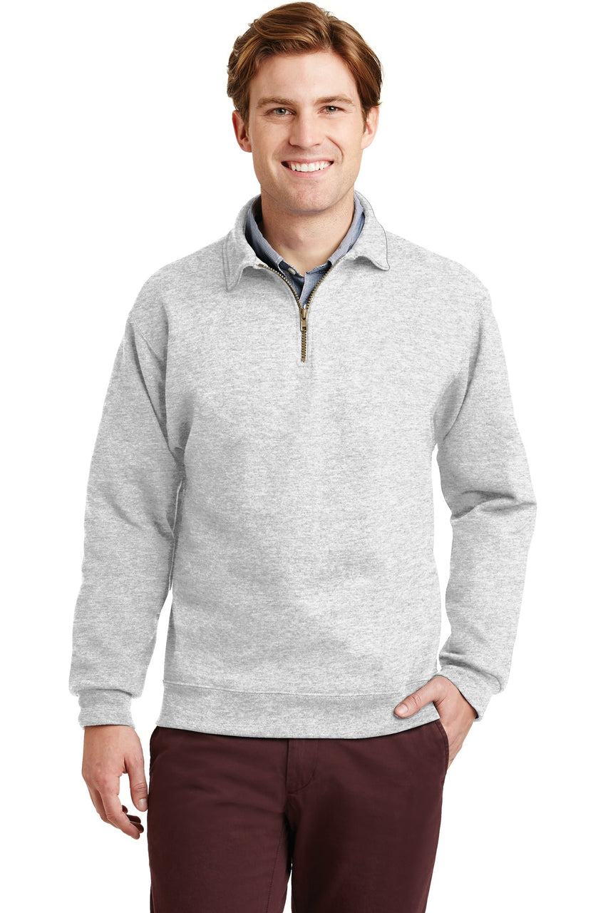 JERZEESå¨ SUPER SWEATSå¨ NuBlendå¨ - 1/4-Zip Sweatshirt with Cadet Collar.  4528M