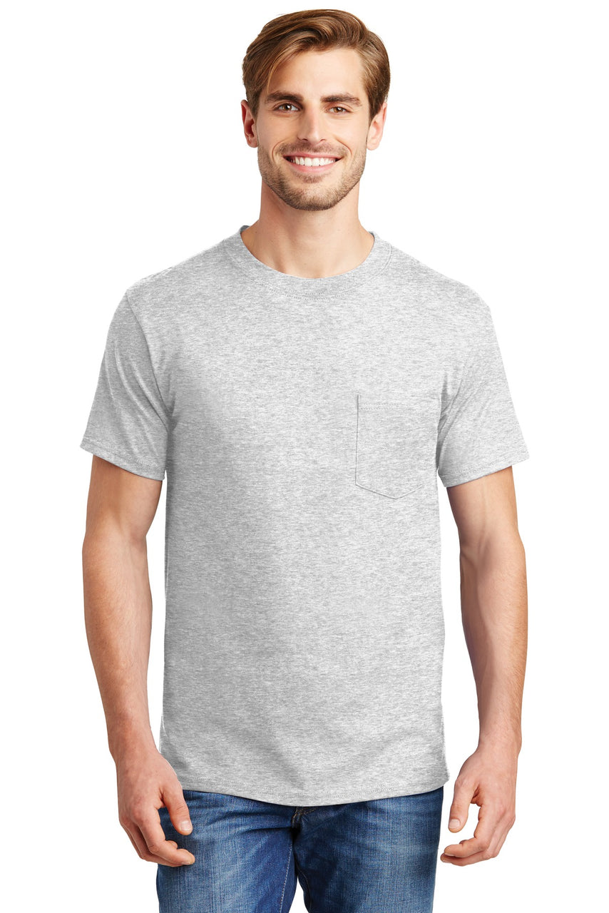 Haneså¨ Beefy-Tå¨ - 100% Cotton T-Shirt with Pocket. 5190