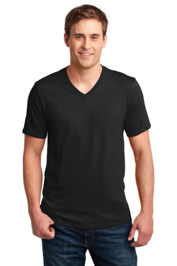 Anvil® 100% Combed Ring Spun Cotton V-Neck T-Shirt. 982