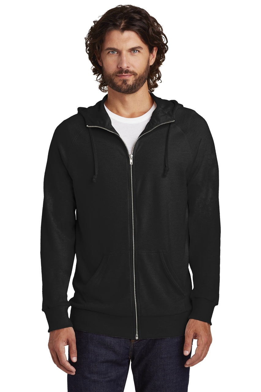 Alternative Vintage Heavy Knit Weekender Zip Hoodie. AA7601