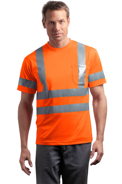 CornerStone® - ANSI 107 Class 3 Short Sleeve Snag-Resistant Reflective T-Shirt. CS408