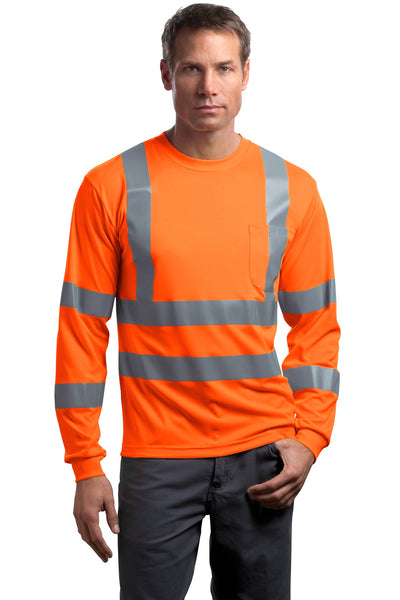 CornerStone® - ANSI 107 Class 3 Long Sleeve Snag-Resistant Reflective T-Shirt. CS409