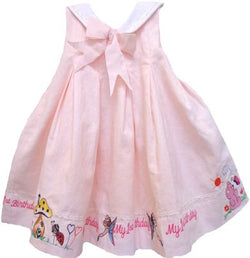 12 MO Fairy light pink embroidered first birthday Dress