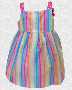 12 MO Ice Cream Cone First Birthday Embroidered Dress