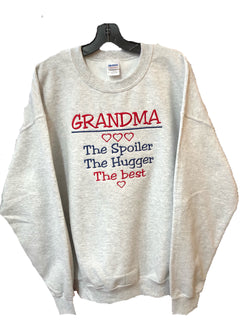 Grandma's personalized custom embroidered sweatshirt