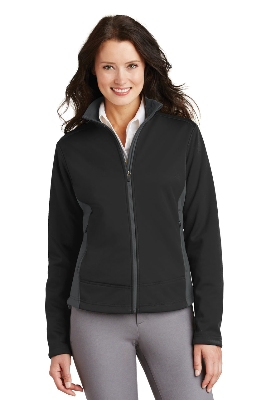 Port Authority® Ladies Two-Tone Soft Shell Jacket.  L794