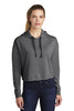 Sport-Tek ® Ladies PosiCharge ® Tri-Blend Wicking Fleece Crop Hooded Pullover LST298