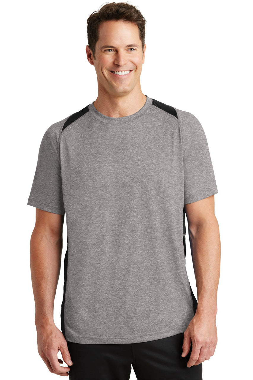 Sport-Tek® Heather Colorblock Contender™ Tee. ST361