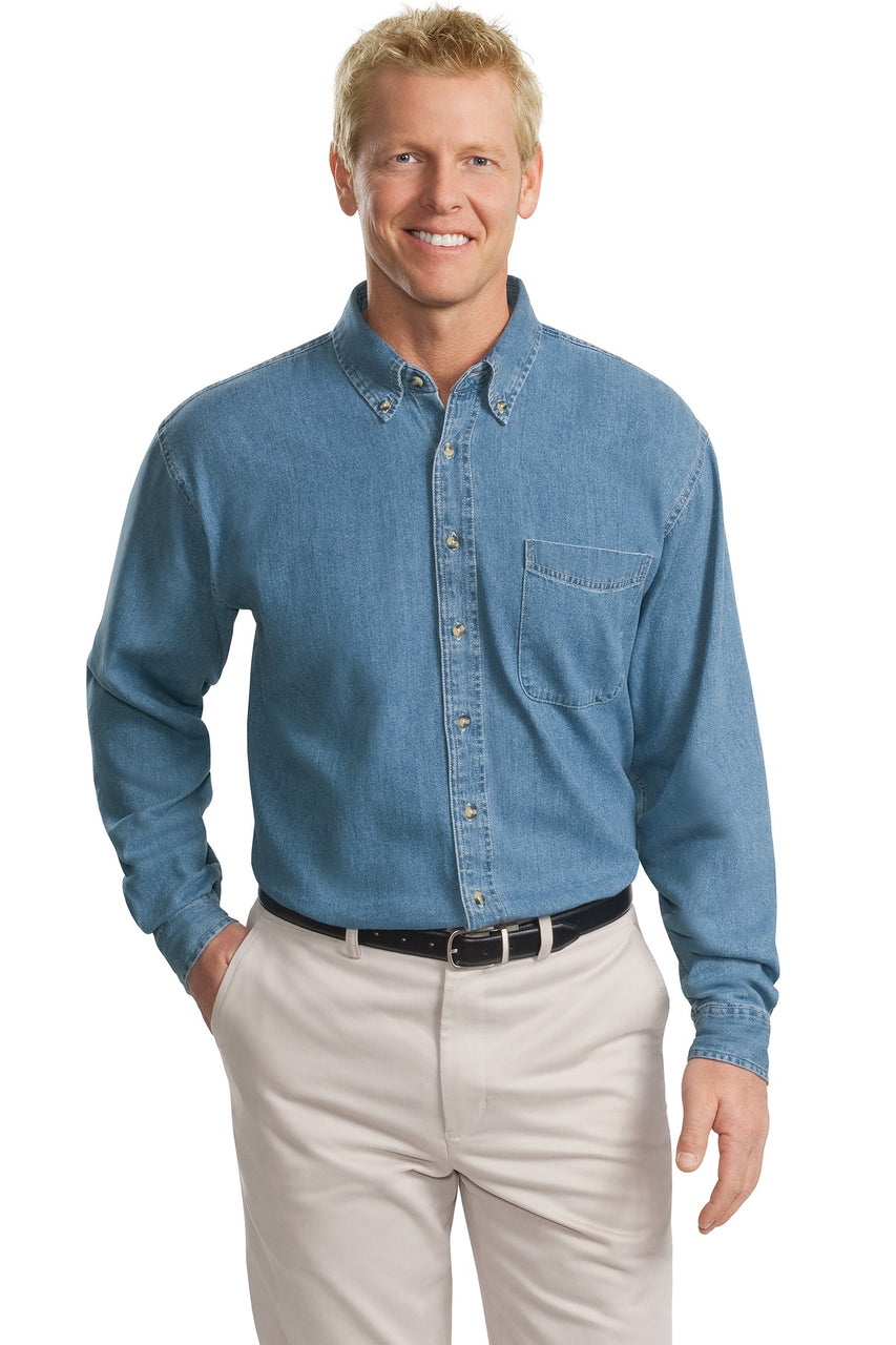 Port Authority® Tall Long Sleeve Denim Shirt. TLS600
