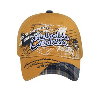 VINTAGE BE BACK IN CIRCULATION/PLAID DESIGN ON VISOR CAP