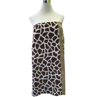 Towel Wrap Giraffe print decorated beach towel wrap