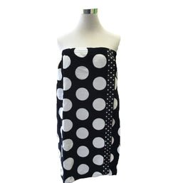 Towel Wrap black and white polka dot stamp decorated towel wrap