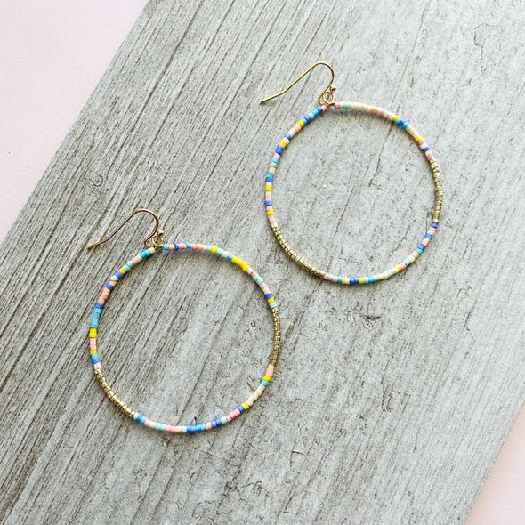 Bonfire 2 Earrings - Pastel
