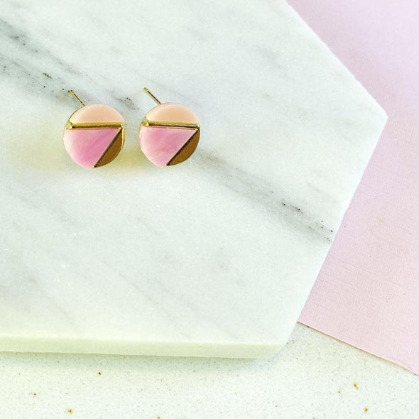 Queenie Earrings - Pink