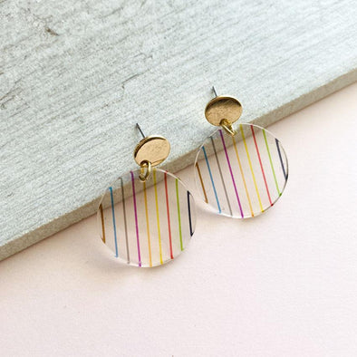Stripes Earrings - Circle