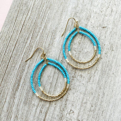 Sutter Earrings - Turq