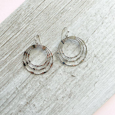 Triptych Earrings - Silver