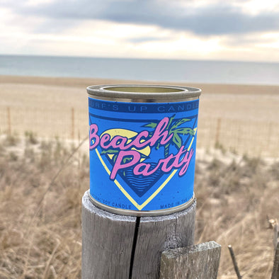 Surfs Up Paint Can Candle