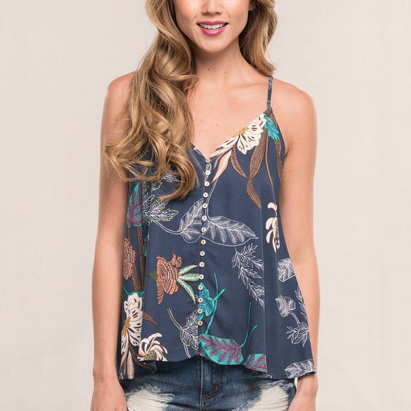 Ghost Floral Tank