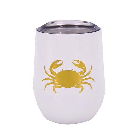 Gold Crab Wine Tumbler