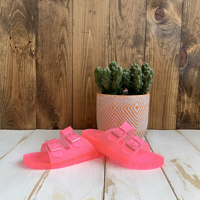 Jelly Slide Pink Sandals
