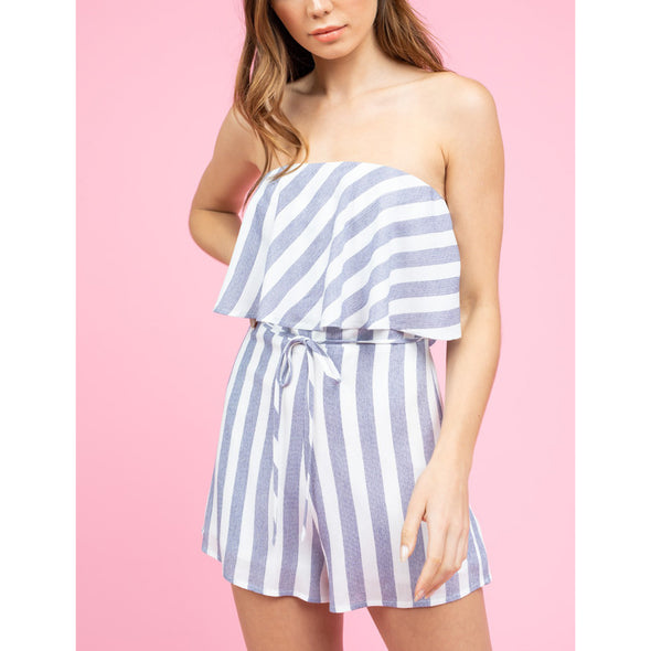 Lined and Dined Romper