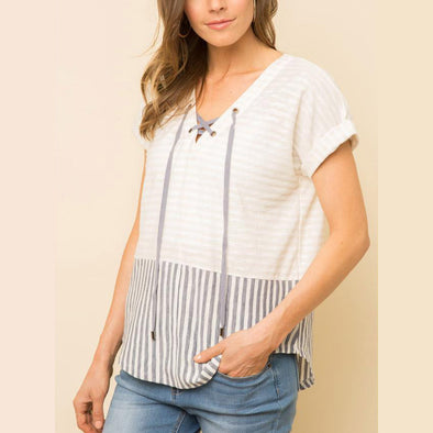 Marla Lace-up Top