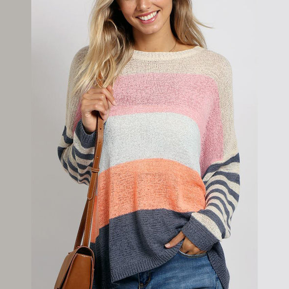 Mixed Lines Sweater