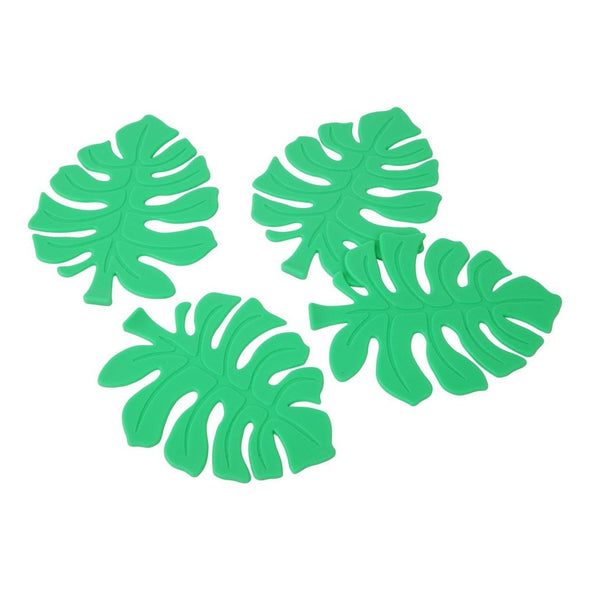 Monstera Leaf Coaster Set