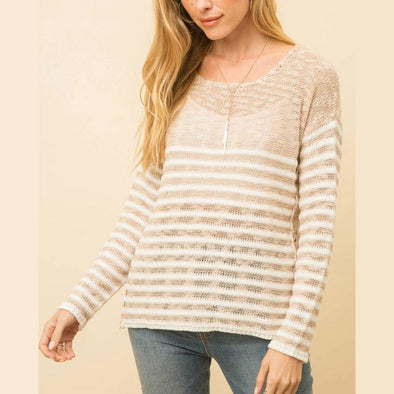 Neutral Stripe Sweater