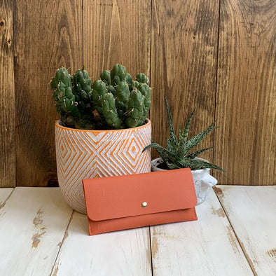 Simple Snap Orange Wallet