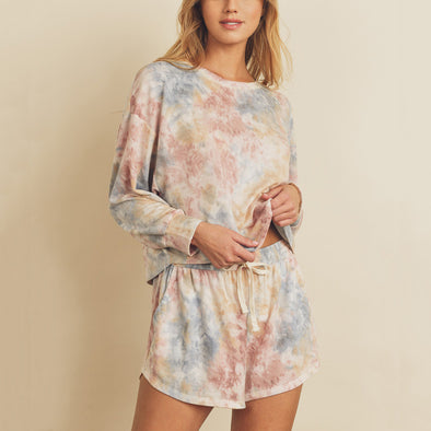 Watercolor Lounge Top
