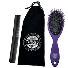 Detangling Hair Brush Set With Comb And Microfiber Bag