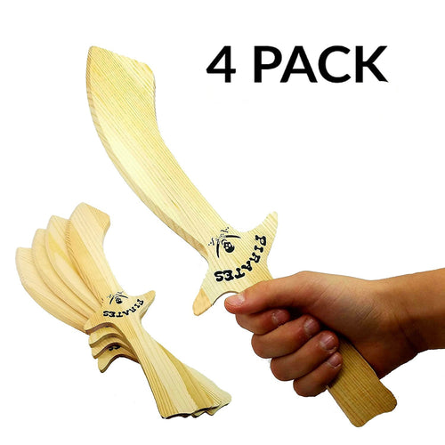 Wooden Pirate Sword 4-Pack