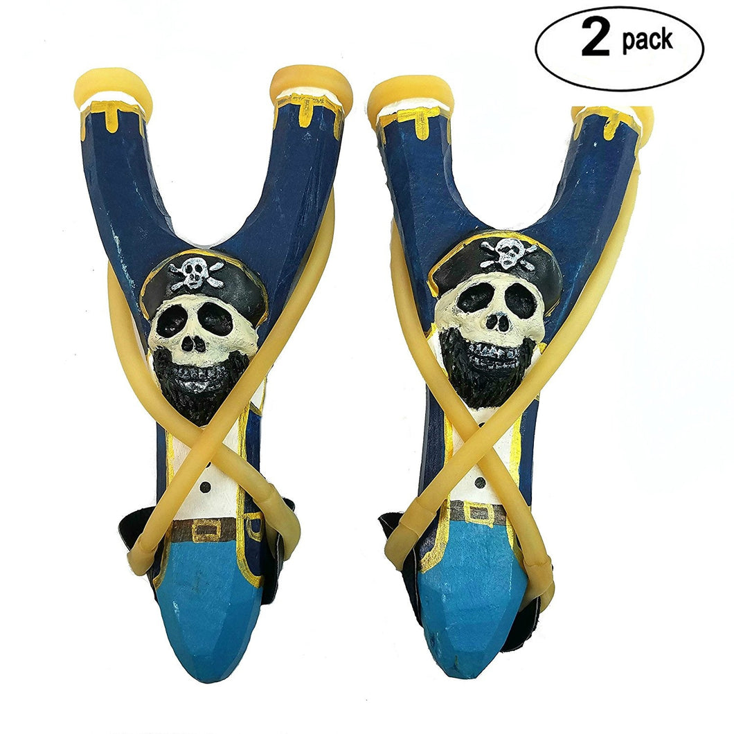 Handmade Wooden Pirate Slingshot 2-Pack